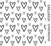 abstract heart pattern with... | Shutterstock . vector #601857863