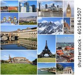 europe landmarks set   tourism... | Shutterstock . vector #601862507