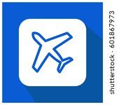 plane vector icon | Shutterstock .eps vector #601867973