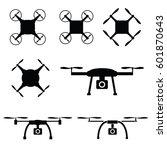 drone set in black color... | Shutterstock .eps vector #601870643