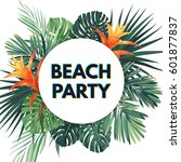 summer tropical flyer with