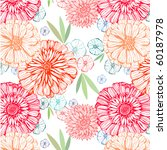 seamless pattern with flowers | Shutterstock .eps vector #60187978