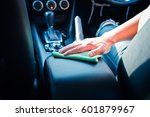 hand cleaning the car interior... | Shutterstock . vector #601879967