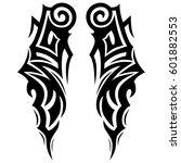 vector tribal tattoo designs.... | Shutterstock .eps vector #601882553