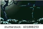 halloween night background... | Shutterstock .eps vector #601888253