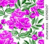 watercolor seamless pattern... | Shutterstock . vector #601900247