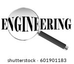 engineering text viewed under... | Shutterstock . vector #601901183