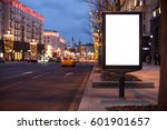 blank mock up of vertical with... | Shutterstock . vector #601901657