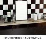 vintage kitchen interior with...   Shutterstock . vector #601902473