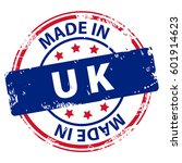 made in uk or england rubber... | Shutterstock . vector #601914623