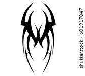 vector tribal tattoo designs.... | Shutterstock .eps vector #601917047