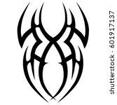 tribal tattoo art designs.... | Shutterstock .eps vector #601917137
