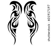 Tattoo tribal vector designs. Tribal tattoos. Art tribal tattoo. Vector sketch of a tattoo.   Shutterstock vector #601917197