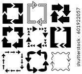 big set of arrows for design... | Shutterstock .eps vector #601922057