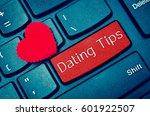 concepts of online dating tips  ... | Shutterstock . vector #601922507