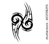 tribal tattoo art designs.... | Shutterstock .eps vector #601938293