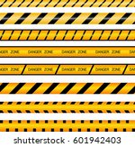 set of ribbons  fence. ribbons... | Shutterstock .eps vector #601942403