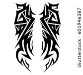 vector tribal tattoo designs.... | Shutterstock .eps vector #601946387