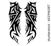 tribal tattoo art designs.... | Shutterstock .eps vector #601946387
