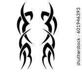 vector tribal tattoo designs.... | Shutterstock .eps vector #601946393
