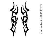 tribal tattoo art designs.... | Shutterstock .eps vector #601947077