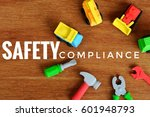 conceptual image with safety... | Shutterstock . vector #601948793