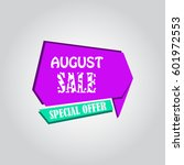 august sale banner special offer | Shutterstock .eps vector #601972553