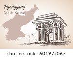 pyongyang city sketch. north... | Shutterstock .eps vector #601975067