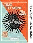 color vintage car wash banner | Shutterstock .eps vector #601975547