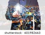 double exposure property and... | Shutterstock . vector #601982663