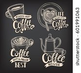 coffee menu graphic element for ... | Shutterstock .eps vector #601991063