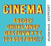retro light bulb alphabet... | Shutterstock .eps vector #601993397