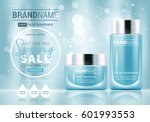facial treatment cream glass... | Shutterstock .eps vector #601993553