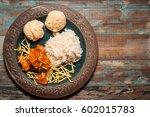 traditional brazilian chicken... | Shutterstock . vector #602015783