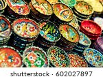 Colorful Decorated Bowls With...
