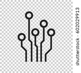circuit board icon. technology... | Shutterstock .eps vector #602029913
