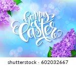 vector illustration of easter... | Shutterstock .eps vector #602032667