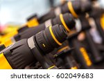 electric drill for wood and... | Shutterstock . vector #602049683