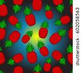 pattern of pineapple.  | Shutterstock .eps vector #602058563