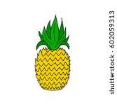 pineapple.    Shutterstock .eps vector #602059313