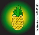 pineapple.  | Shutterstock .eps vector #602059343