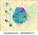 cartoon human brain... | Shutterstock .eps vector #602060117