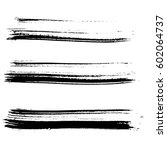 set of ink vector brush strokes.... | Shutterstock .eps vector #602064737