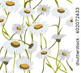 seamless pattern  with white... | Shutterstock .eps vector #602072633