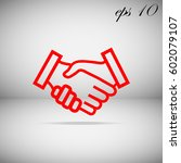 business handshake   contract... | Shutterstock .eps vector #602079107