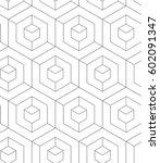 regular geometric. seamless... | Shutterstock .eps vector #602091347