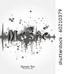 vector illustration of music... | Shutterstock .eps vector #60210379