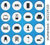 set of 16 editable furniture...