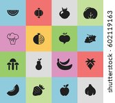 set of 16 editable berry icons. ... | Shutterstock .eps vector #602119163