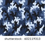 fashionable camouflage pattern  ... | Shutterstock .eps vector #602119313